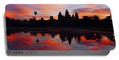 Angkor Wat Sunrise Portable Battery Charger by Alexey Stiop
