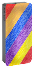 Portable Battery Charger featuring the painting Angles by Stormm Bradshaw