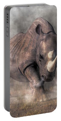 Angry Rhino Portable Battery Charger by Daniel Eskridge