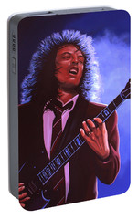 Angus Young Of Ac / Dc Portable Battery Charger by Paul Meijering