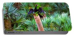 Anhinga Anhinga Anhinga On A Tree Portable Battery Charger by Panoramic Images