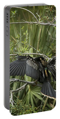 Anhinga Papa Portable Battery Charger by Phill Doherty