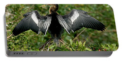 Anhinga Sunning Portable Battery Charger by Anthony Mercieca