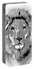Animal Prints - Proud Lion - By Sharon Cummings Portable Battery Charger
