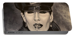 Anjelica Huston Portable Battery Charger by Paul Meijering