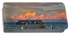 Anna Maria City Pier Portable Battery Charger by HH Photography of Florida