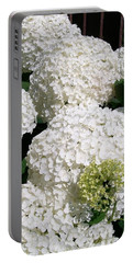 Annabelle Hydrangea  Portable Battery Charger by Sharon Duguay