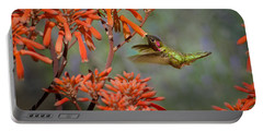 Anna's Hummingbird Portable Battery Charger by Linda Villers