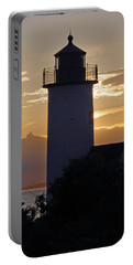 Annisquam Lighthouse Sunset Portable Battery Charger