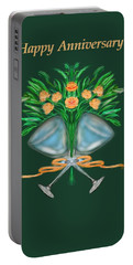 Portable Battery Charger featuring the digital art Anniversary Bouquet by Christine Fournier