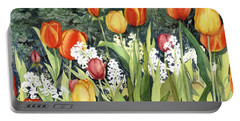 Ann's Tulips Portable Battery Charger