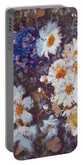 Another Cluster Of Daisies Portable Battery Charger by Richard James Digance