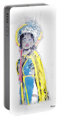 Another Time Monoprint Portable Battery Charger by Verana Stark