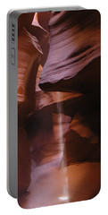 Portable Battery Charger featuring the photograph Antelope Canyon With Light Beam by Alan Socolik