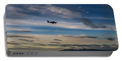 Portable Battery Charger featuring the photograph Antelope Island - Lone Airplane by Ely Arsha