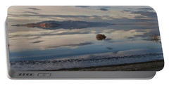 Portable Battery Charger featuring the photograph Antelope Island - Lone Tumble Weed by Ely Arsha