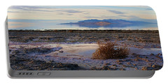 Portable Battery Charger featuring the photograph Antelope Island - Tumble Weed by Ely Arsha