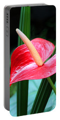 Anthurium Portable Battery Charger by Mariarosa Rockefeller
