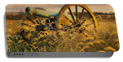 Portable Battery Charger featuring the photograph Antietam Maryland Cannon Battlefield Landscape by Paul Fearn