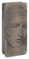 Portable Battery Charger featuring the drawing Antigone By Jrr by First Star Art