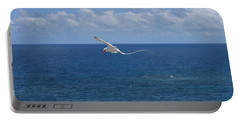 Portable Battery Charger featuring the photograph Antigua - In Flight by HEVi FineArt