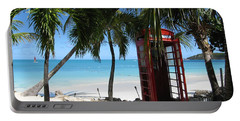 Portable Battery Charger featuring the photograph Antigua - Phone Booth by HEVi FineArt