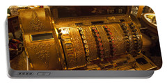 Portable Battery Charger featuring the photograph Antique Cash Register by Jerry Cowart