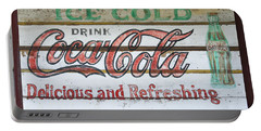 Antique Coca Cola Sign  Portable Battery Charger by Chris Flees
