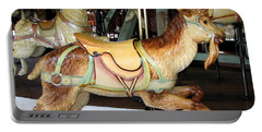 Portable Battery Charger featuring the photograph Antique Dentzel Menagerie Carousel Goat by Rose Santuci-Sofranko