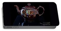 Antique Native American Teapot On Black Art Prints Portable Battery Charger