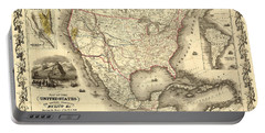Antique North America Map Portable Battery Charger