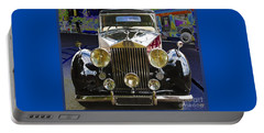Portable Battery Charger featuring the digital art Antique Rolls Royce by Victoria Harrington