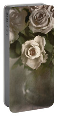 Antique Roses Portable Battery Charger