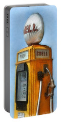Antique Shell Gas Pump Portable Battery Charger