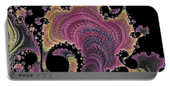 Portable Battery Charger featuring the digital art Antique Tapestry by Susan Maxwell Schmidt