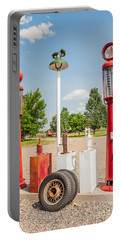 Portable Battery Charger featuring the photograph Antique Texaco Pumps by Sue Smith