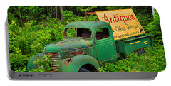 Portable Battery Charger featuring the photograph Antiques Just Around The Corner by Alana Ranney