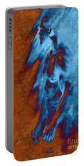 Portable Battery Charger featuring the drawing Apart With Mood Texture by Paul Davenport