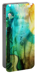 Aphrodite's First Love - Guitar Art By Sharon Cummings Portable Battery Charger