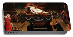 Apotheosis Of Semele Oil On Canvas Portable Battery Charger