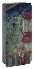 Portable Battery Charger featuring the painting Appalachian Nights  by Avonelle Kelsey
