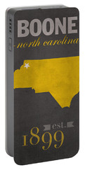 Appalachian State University Mountaineers Boone Nc College Town State Map Poster Series No 010 Portable Battery Charger