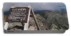 Appalachian Trail Mount Katahdin Portable Battery Charger by Glenn Gordon