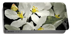 Portable Battery Charger featuring the photograph Apple Blossoms by Alana Ranney
