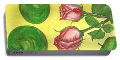 Apples And Roses Portable Battery Charger