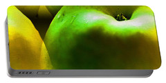 Portable Battery Charger featuring the digital art Apples by Daniel Janda