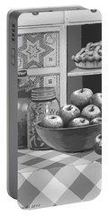 Portable Battery Charger featuring the digital art Apples Four Ways by Carol Jacobs