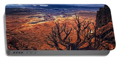 Approaching Storm Portable Battery Charger by Priscilla Burgers