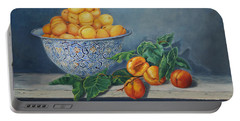 Apricots And Peaches Portable Battery Charger
