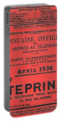 April In Paris 1936 Portable Battery Charger